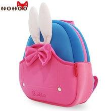 NOHOO 2017 School Backpack Anti lost Kids Baby Bag Cartoon Animal Rabbit Children Backpacks Kindergarten School