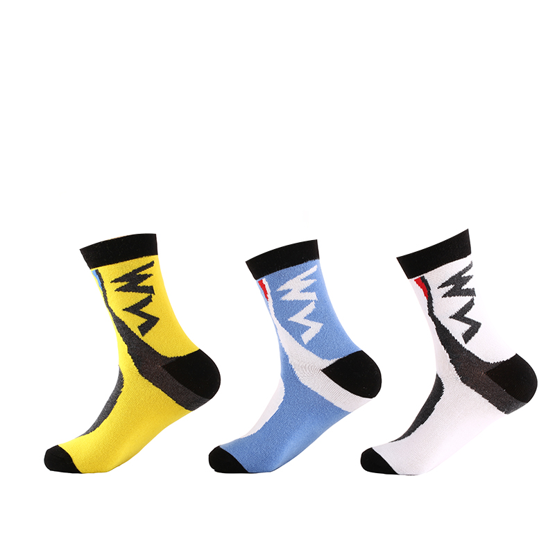 RB7701 R-BAO Cycling Socks High-quality Assorted Colors Antibacterial Breathable Quick-Dry Racing MTB Bicycle Socks 3pairs=1Lot