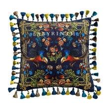 בית דקורטיבי ספה לזרוק כריות אור יוקרה רטרו זהב עוף קטיפה ספה כרית כיסוי מיטת משענת כיסוי ציפית