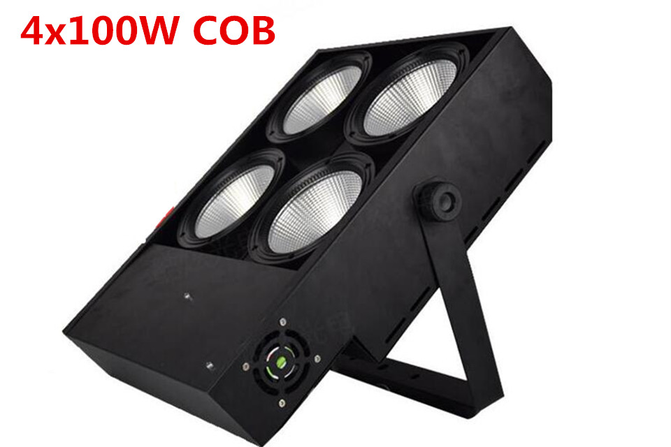 400W  LED COB Lights 4x100W Blinder Light 4eye COB LED Wash Light High Power Dj Light  DMX Stage  Fast Shipping