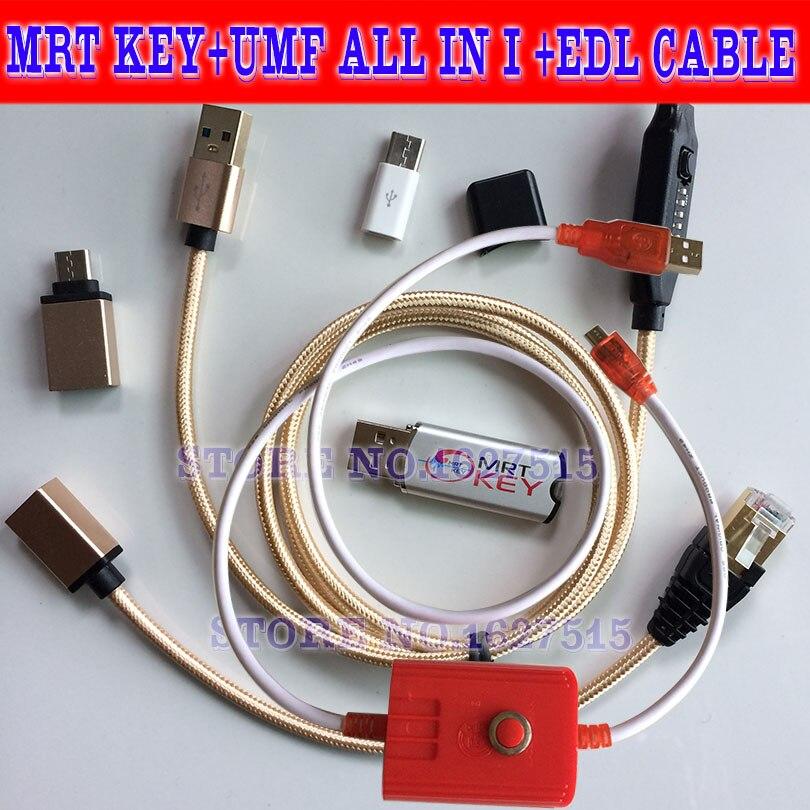 Clé MRT dongle mrt 2 + umf tout en i câble de démarrage + edl 9008 câble pour Mei zu OPPO coolpad hongmi déverrouillage Flyme compte supprimer