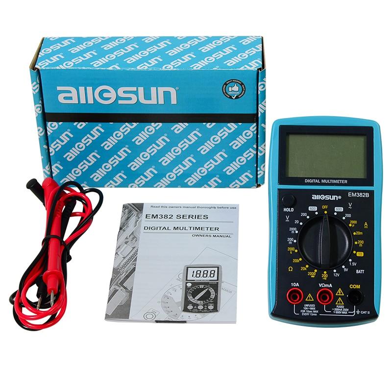 all-sun EM382B LCD digitális multiméter DC / AC voltmérő - Mérőműszerek - Fénykép 6
