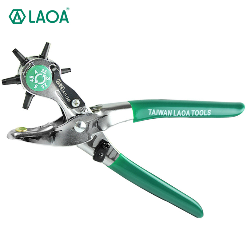 LAOA leather hole belt punch puncher pliers Hand Tools Germany type removing craft belt from 2.5 to 4.5MM Free Shipping  цены