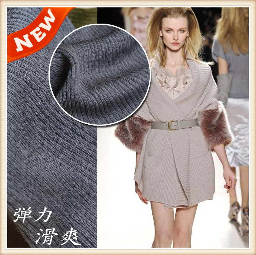 high-quality knit wool fabric acrylic for home sewing clothes in autumn winter for fleece <font><b>cardigans</b></font> coat 50*150cm/piece K302317