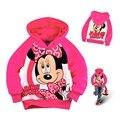 Minnie velo de inverno para crianças casacos para meninas Hoodies e camisola crianças roupa com capuz mangas compridas da menina da criança camisola