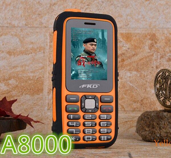 Цена за НОВЫЙ Оригинальный Power Bank Сотовый Телефон A8000 Аккумулятор Большой Емкости Фонарик Открытый Мобильный Русская Клавиатура H мобильных A8000
