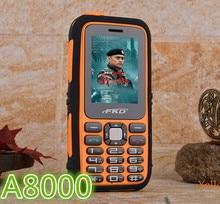 НОВЫЙ Оригинальный Power Bank Сотовый Телефон A8000 Аккумулятор Большой Емкости Фонарик Открытый Мобильный Русская Клавиатура H-мобильных A8000