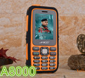 NUEVA Original A8000 Teléfono Celular Banco de la Energía Móvil de Gran Capacidad de la Batería de La Linterna Al Aire Libre Del Teclado Ruso H-móvil A8000
