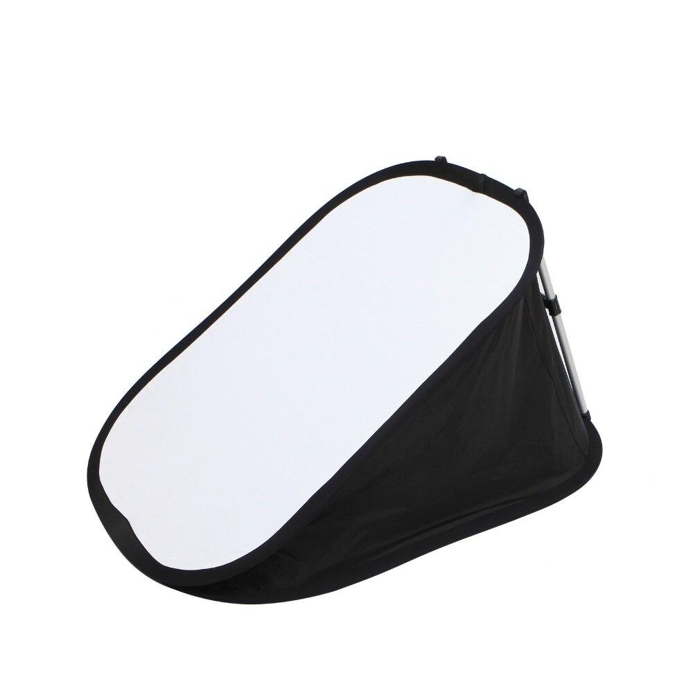 70 x 100CM Floor Flash Softbox Reflector Integrated Folded Portab with H Bracket For Flash Speedlight 80cm speedlight flash reflective octagonal umbrella softbox black white