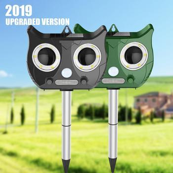 Tenaga Surya Ultrasonic Outdoor Pengendalian Hama Hewan Repeller ABS Taman Halaman 5 Tingkat Ultrasonik Mol Ular Penolak