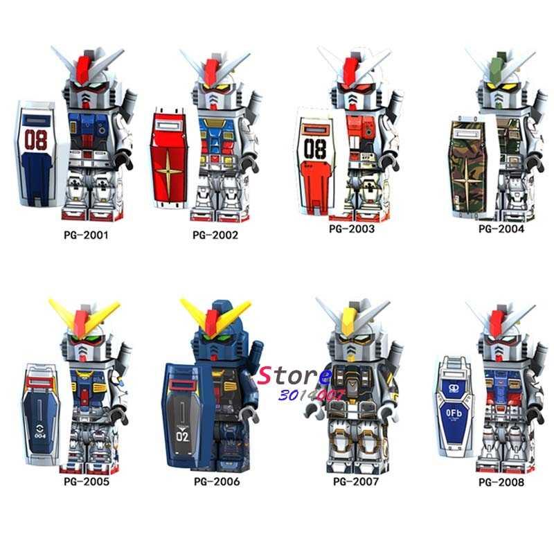 Enkele Super Hero Mobiele Pak Armor Seed Destiny RX-178 MK-11 RX79 RX-78-2 Bouwstenen Model Bricks Speelgoed Voor Kinderen