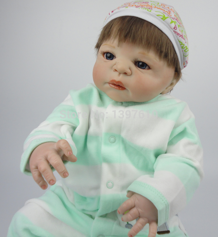 377beebeb534 New 23Inch Full Vinyl Fashion Reborn Baby Doll Lifelike Newborn Baby Doll  Baby Alive Doll Realistic Doll Baby For Girl. Price