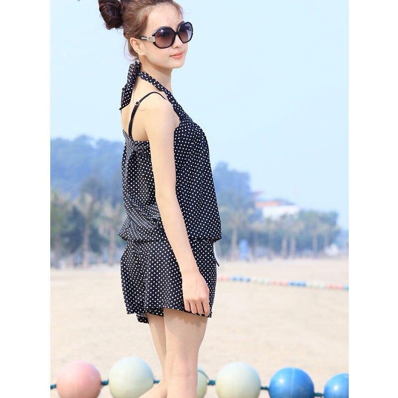 Korean style swimsuit female three-piece set conservative bikini set blouse student hot spring swimsuit sweet girl beach party s annie chun s go chu jang korean sweet