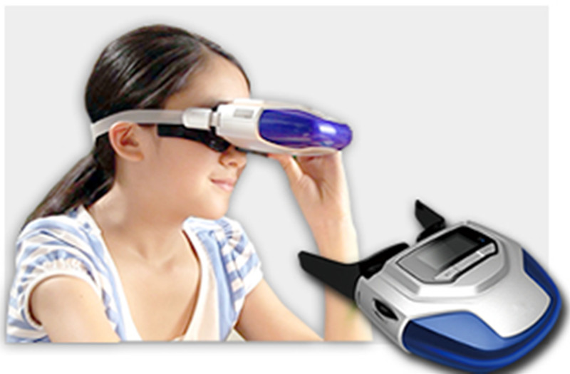 Rechargeable Myopia Cure Machine Short Eye Sight Recovery Device DC Battery Eyes Acupuncture Massaging Massager Laser