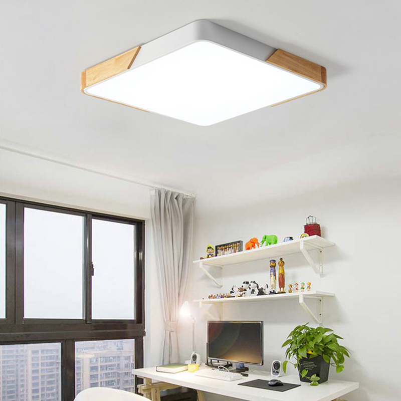 5cm Wood Metal  Ultra-thin modern LED Ceiling Lights Lamp Luminaria Ceiling Light With 3 Color Fixtures Lustre Plafonnier5cm Wood Metal  Ultra-thin modern LED Ceiling Lights Lamp Luminaria Ceiling Light With 3 Color Fixtures Lustre Plafonnier