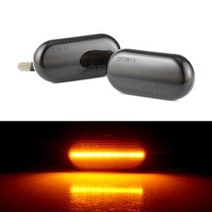 Image 1 - 2 stück Led Seite Marker Blinker Licht Für Renault Clio 1 2 KANGOO MEGANE ESPACE TWINGO MASTER für Nissan opel Smart FORTWO