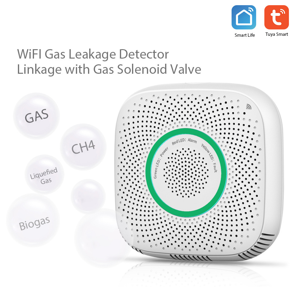 Image 2 - Lonsonho Smart Wifi Gas Sensor Leak Detector Smart Home Security Voice Alarm Tuya Smart Life App Wireless Remote Control-in Sensor & Detector from Security & Protection