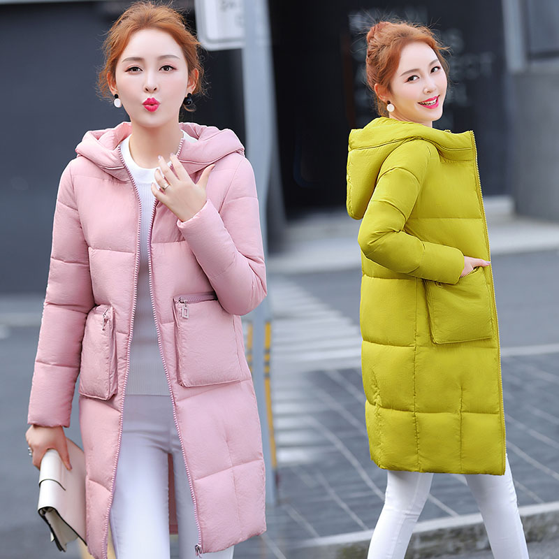 2017 new winter in the long section hooded loose down jacket Slim plus bread jacket thick cotton jacket female jacket skinnwille 2016 new products down jacket in winter more female in long white duck down even the chinstrap collars winter