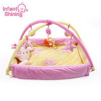 Infant Shining Baby Gym Mat with Frame Cartoon Game Blanket Baby Play Mat Newborn Gym Pad Baby Puzzle Toy 0 3 Year Old