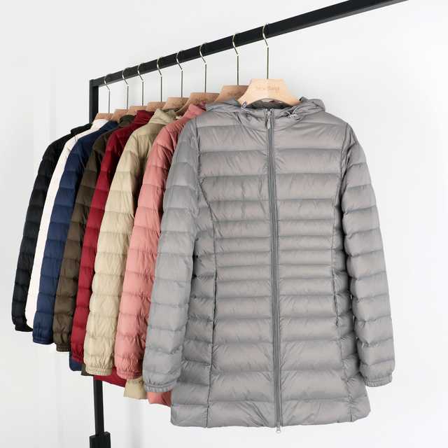 Matt Fabric 5XL 6XL Plus Long Down Jacket Women Winter Ultra Light Down Jacket Women With Hooded Down Coat Female Big Size Coats 3