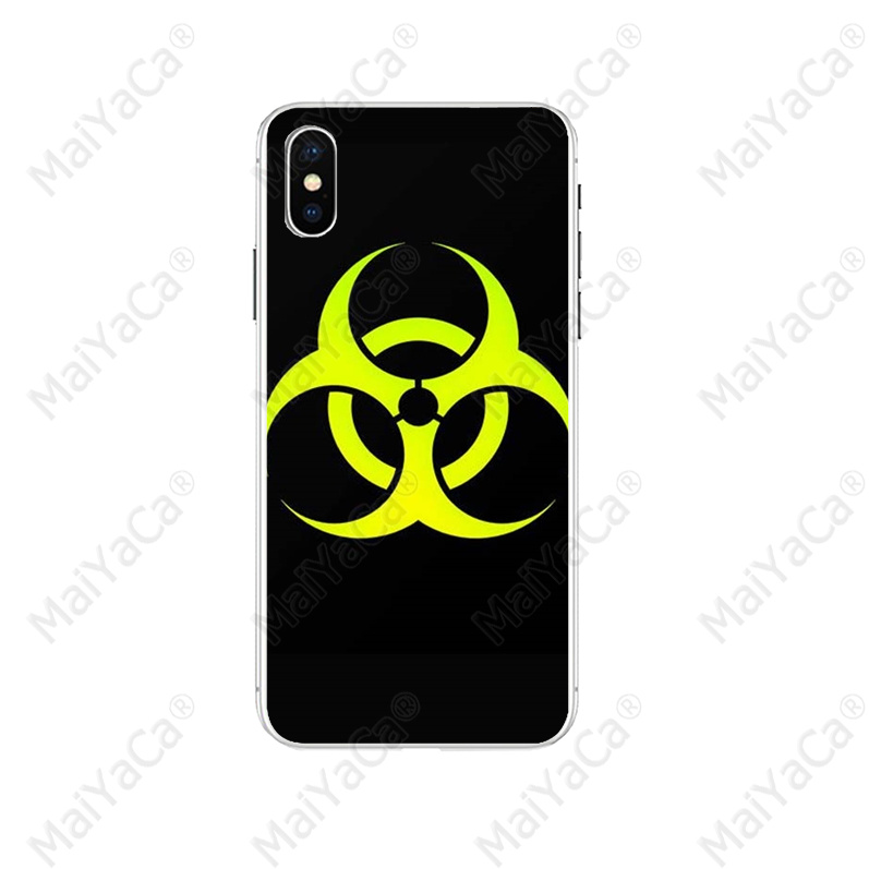 MaiYaCa Nuclear bomb logo Painted Cover Style Soft Shell Phone Case for Apple iPhone 5 5S 6 6S 7 8 Plus X XS MAX SE XR Cover in Half wrapped Cases from Cellphones Telecommunications