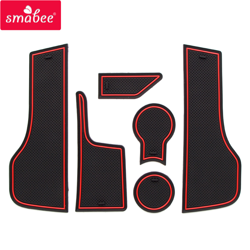 smabee Gate slot pad For LADA vesta Interior Door Pad/Cup Non-slip mats 6pcs red blue white black VESTA