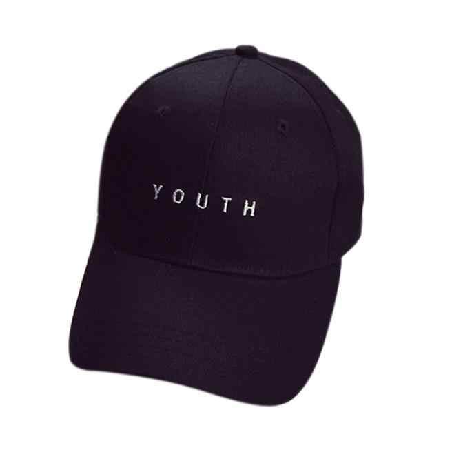 ผู้ชายและผู้หญิงลำลองเย็บปักถักร้อยผ้าฝ้ายU Nisexหมวกเบสบอลหนุ่มๆสาวๆหนังสือพิมพ์ปรับSnapbackฮิปฮอปแบนหมวกNov5