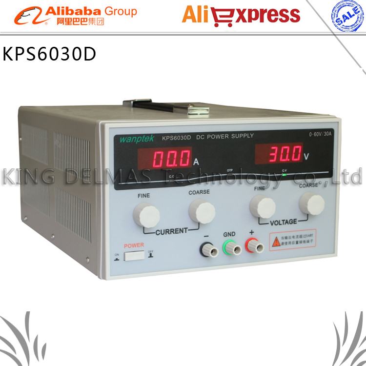 KPS6030D High precision High Power Adjustable LED Display Switching DC power supply 220V 0-60V/0-30A For Laboratory and teaching high quality wanptek kps6030d high precision adjustable display dc power supply 0 60v 0 30a high power switching power supply