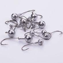 2015 5 PSC/Lot New High Quality 1g/3g/5g/5.5g/10g Lead Head Hook Jigs Bait Fishing Hooks For Soft Lure Fishing Tackle