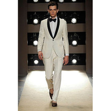 mens suit ivory groom wedding suits tuxedo slim fit dress for 2017 fashion tuxedos popular western men tuxedos