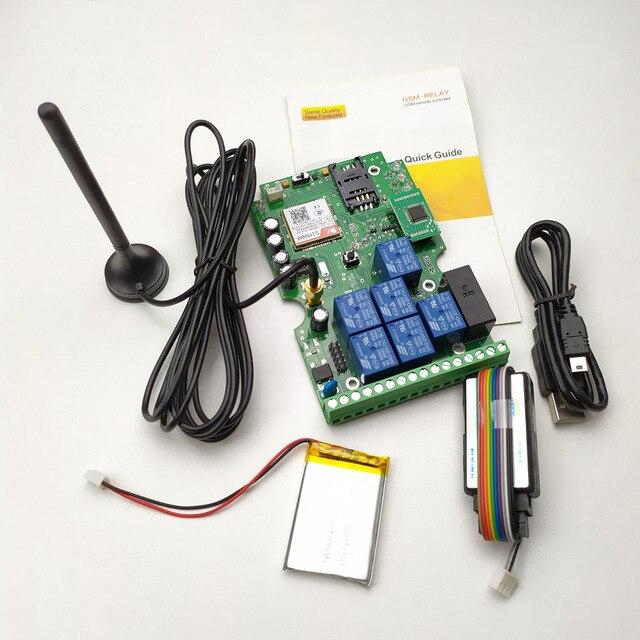 送料無料 GSM リレー使用してリモートコントロールボード 7 リレーリアルタイムスイッチ出力 GSM クワッドバンドで設計されアプリのサポート