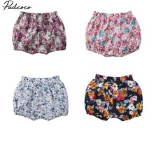 Pudcoco  Lovely Baby Girl Casual Floral Printed Loose High Waist Short Pants 6M-3Y