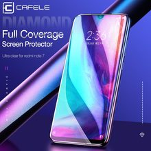 CAFELE Tempered Glass for Xiaomi Redmi Note 7 Screen Protector Ultra Thin HD Clear Full Coverage Film