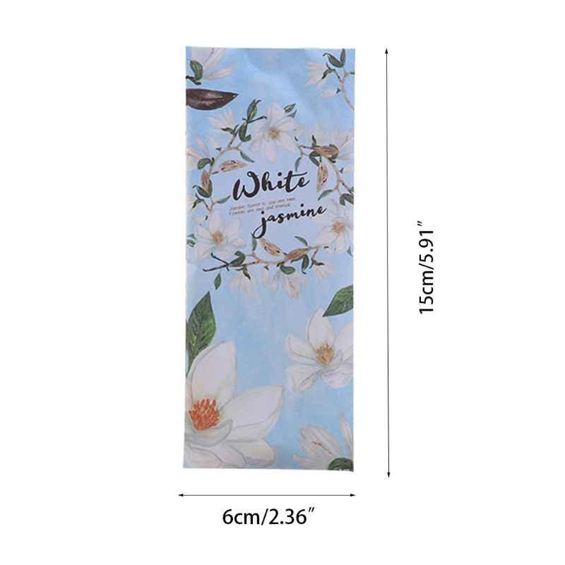 15x6 cm Saco Sachê Fragrância Casa Flor Natural Perfumado Roupeiro Desodorante Pacote Com Suspensão de Purificadores de Ar Do Carro Portátil gancho