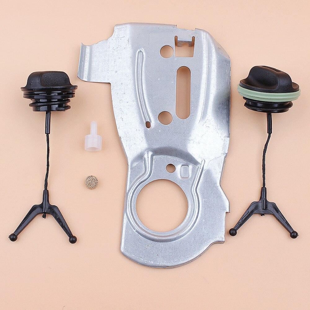 Oil Pump Plate Tank Vent Breather Fuel Oil Cap Kit Fit Husqvarna 340 345 350 Jonsered 2150 2145 2141 Chainsaw Parts 503875701