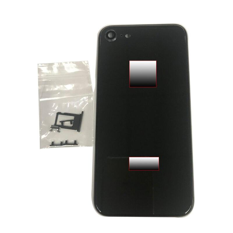 3aaa615d956 Carcasa trasera de chasis funda de batería para iPhone 7 7 p como 8 8 p  carcasa trasera + logotipo y botones y bandeja Sim + pegatina + herramienta