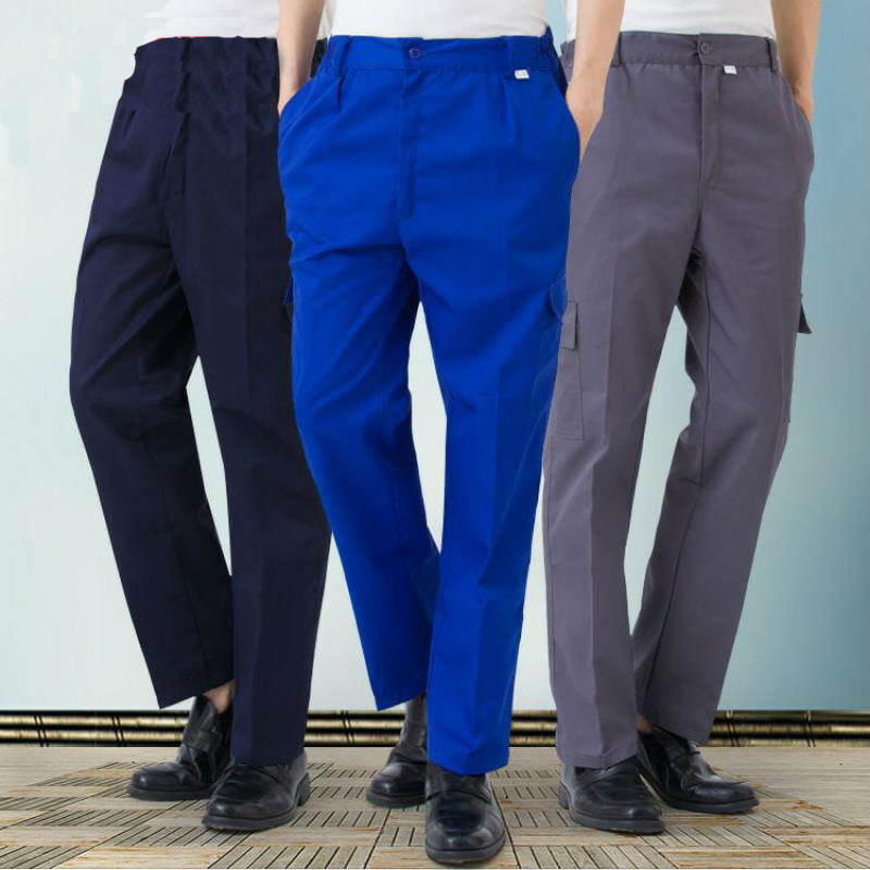 Work Pants Men's Auto Repair Labor Insurance Welding Factory Work Clothes Trousers Cotton Safety Clothing Pants Wear DYF030