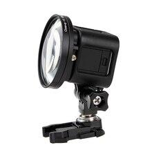 """58 מ""""מ מתאם טבעת תקריב עדשת ערכת עבור GoPro HERO 5 מושב 4 מפגש מצלמות ללכת פרו 4S 5S אבזרים"""