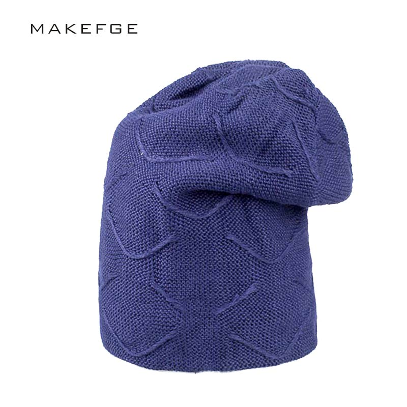 Men Head cap Warm Hats Beanie Hat Winter Knitting Wool Hat for Unisex Caps Lady Beanie Knitted Caps Women's Hats Outdoor Sport 2017 new wool grey beanie hat for women warm simple style bad hair day knitting winter wooly hats online ds20170123 x24