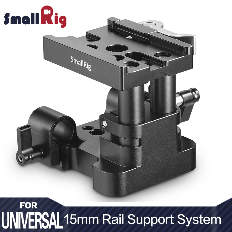 SmallRig DSLR Camera Quick Release Plate Universal 15mm Rail Support System Baseplate QR Plate Excluded W