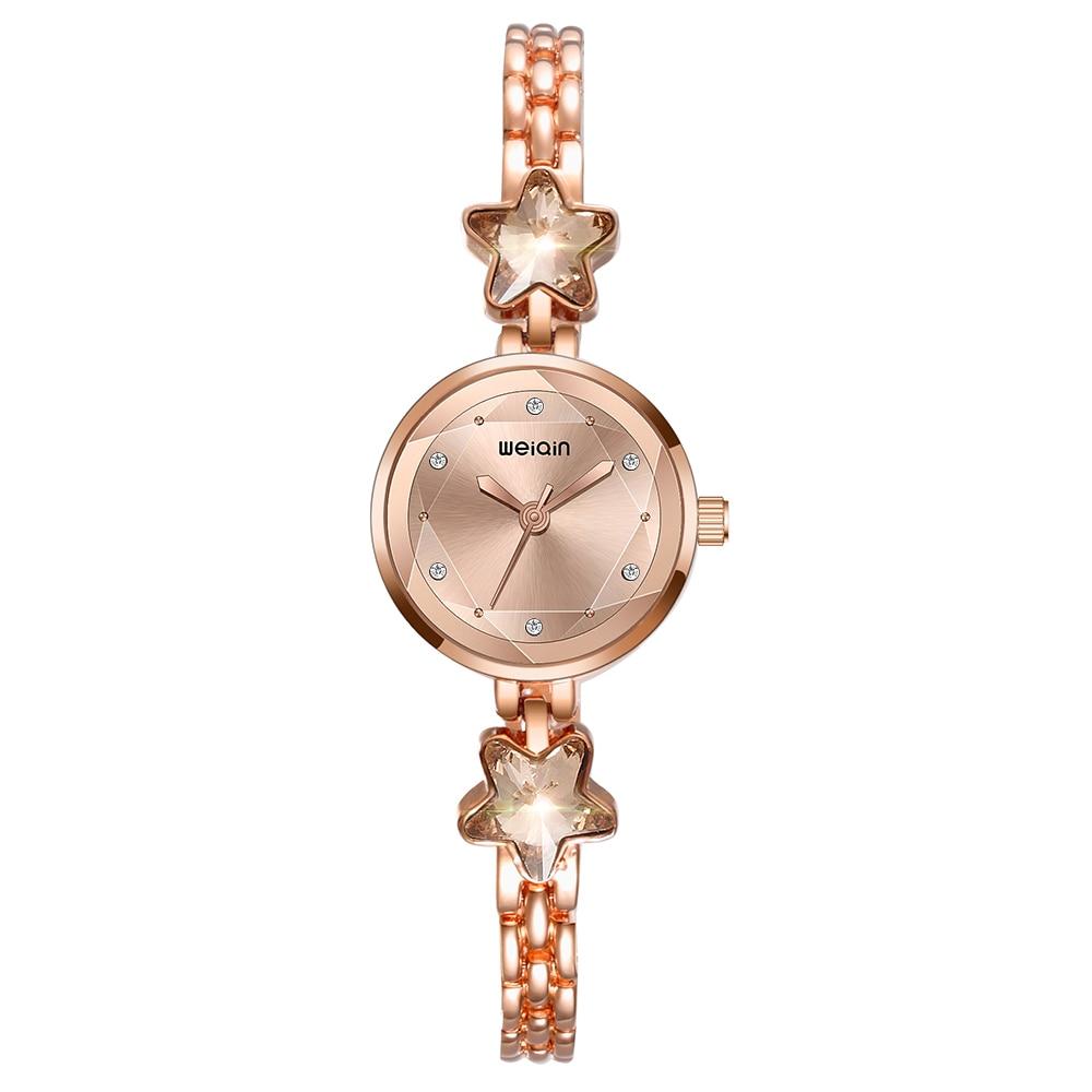 Weiqin New Women Watches Fashion Casual Bracelet Watch Women Relogio Rhinestone Analog Quartz Watch Clock Female Montre Femme in Women 39 s Watches from Watches
