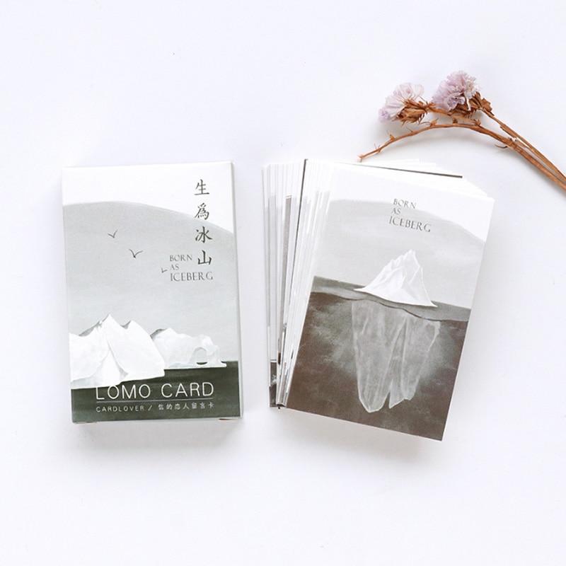 28 Pcs/lot Creative Cute Iceberg Card Postcard Birthday Greeting Card Letter Envelope Gift Card Set Message Card