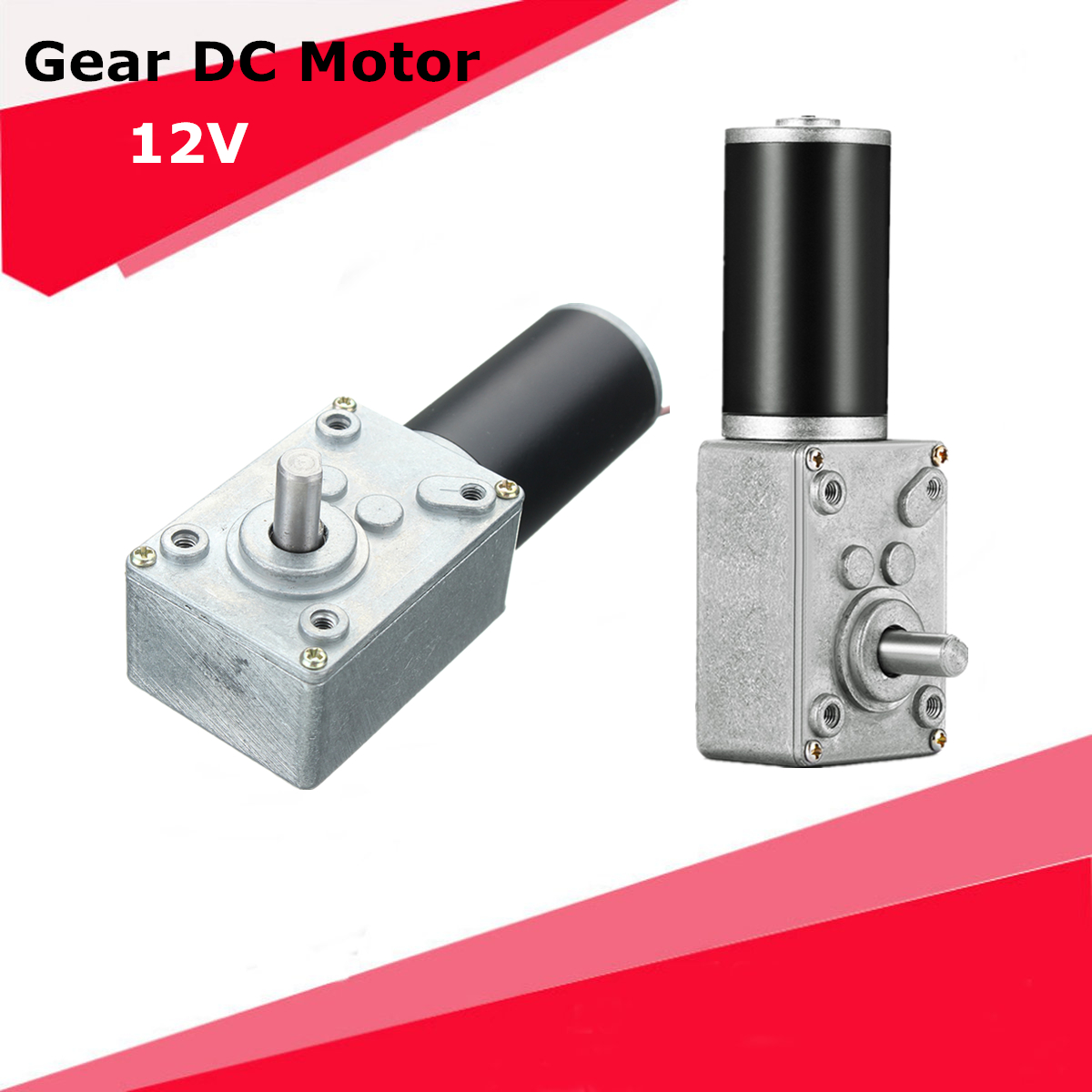 12V DC 5-250Turn Micro Gear Motor Box High Torque Electric Power Turbo Speed Reducer Worm Geared Reversible цена