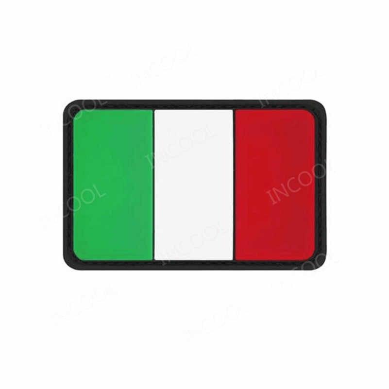 Parche de goma de bandera italiana carabiniere táctico militar parches de moral gancho de combate espalda 3D PVC insignias banderas Envío Directo