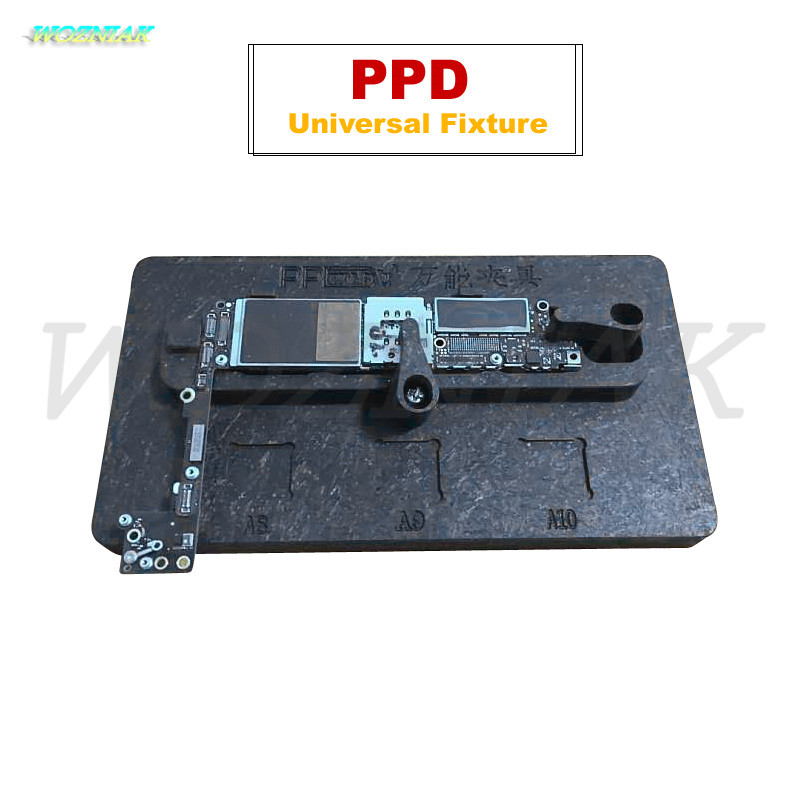 Wozniak PPD universal fixture Universal for iPhone 4 5 6 7 plus motherboard fixed clamp A8 A9 A10 CPU 3D fixed card slot tools wozniak mobile phone maintenance clamp for iphone bga chip motherboard fixture location remove glue tin plant fixed clamp