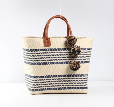 2018 Ball Design Summer Beach Bags Basket Chic Woven Straw Handbags for Women Large Bohemia Beach