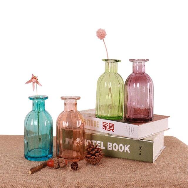 Mini Diy Glass Vase Office Decor Creative Hydroponic Bottle Home