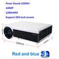 LED96 Inteligente + construir-en el proyector de cine en casa 5000 lúmenes llevó la lámpara de larga vida HDMI proyector de cine en 3D como lke smart TV