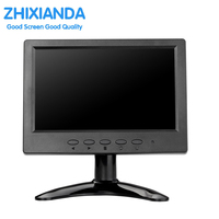 7 인치 터치 스크린 모니터 1024*600 CCTV 터치 모니터 AV/BNC/VGA/HDMI/USB 입력 IPS 터치 모니