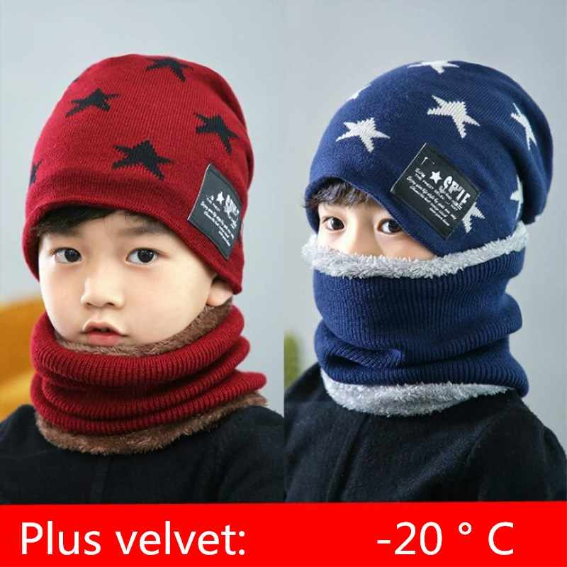 8b3c0bdb101 ... 2018 Hot parent child 2pcs super warm Winter balaclava wool Beanies  Knitted Hat and scarf for ...